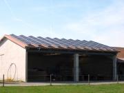 Solaranlage  auf  Gerätehalle