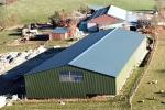 Obj05 Landwirtschaftshalle Neubau Größe 1500m² Dacheindeckung Sandwichelement