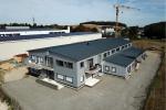 Obj11 Industriebau, Fassadenverkleidung Aluwelle, Dacheindeckung Sandwichelement