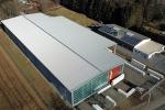 Obj12 Industriebau, Lagerhalle, Kassettenfassade Dacheindeckung Staltrapezblech